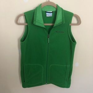 Columbia fleece vest green M kids